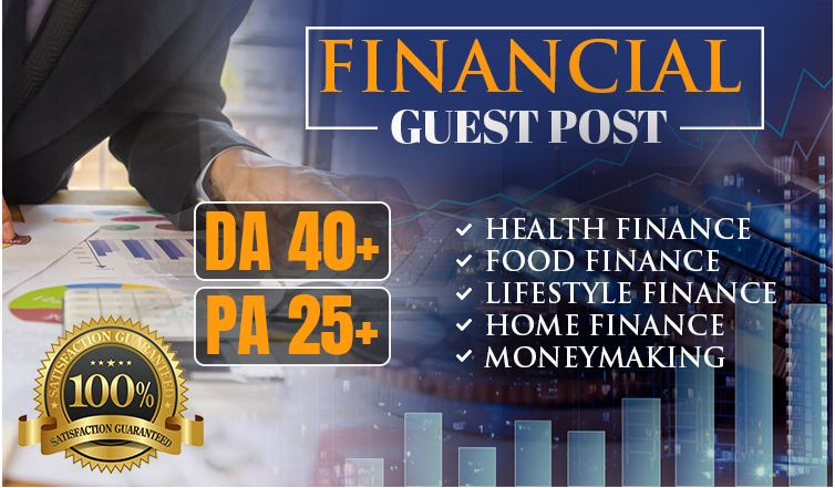 Submit A Guest Post With Quality Backlink on A DA 39 Financial Blog for $15