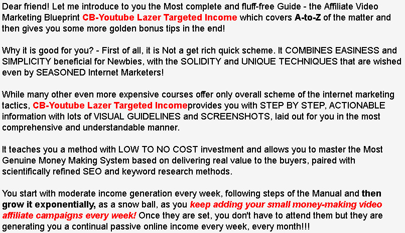 Cb youtube lazer targeted income for 6 seoclerks how to decrease the click off rate to the minimum steady working system that makes you passive income on automation once you set it malvernweather Choice Image
