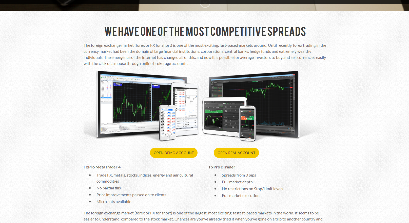 Forex affiliate website template