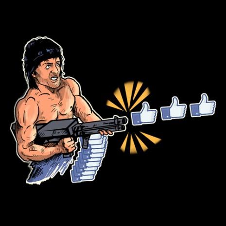 facebook like machine gun