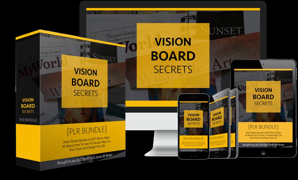 Vision Board Secrets PLR Bundle Pack