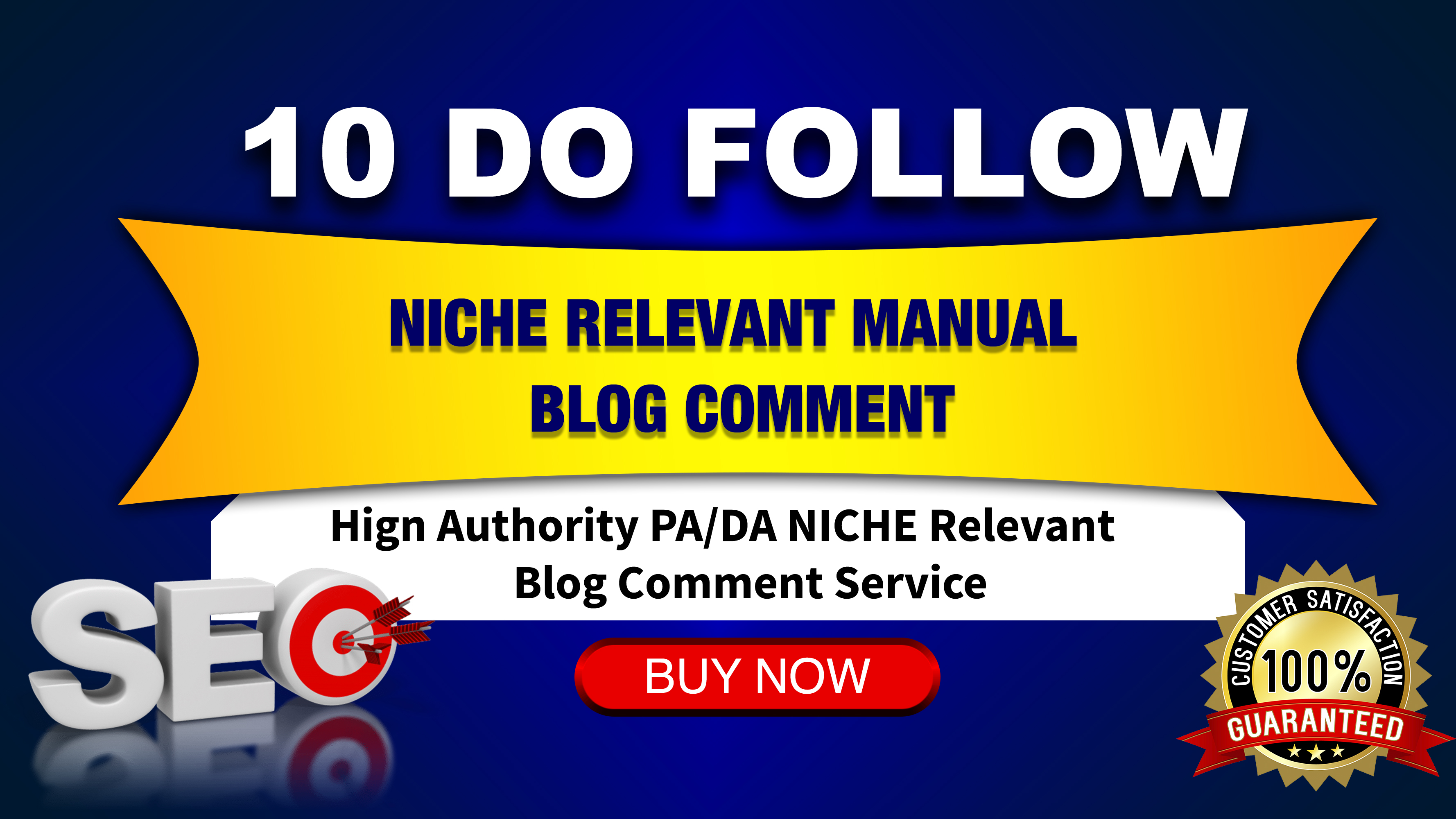 we will make 10 Niche Relevant Blog Comments all 40 DA+ domians Actual Do-follow pages