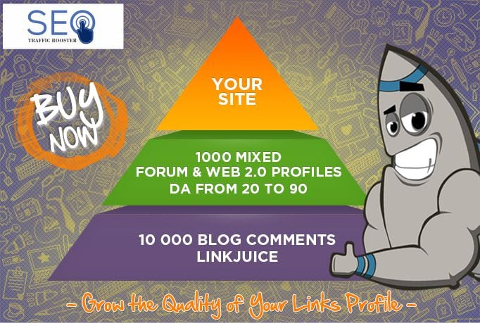 Seo Link Pyramid 1000 link PLUS EDU links as bonus