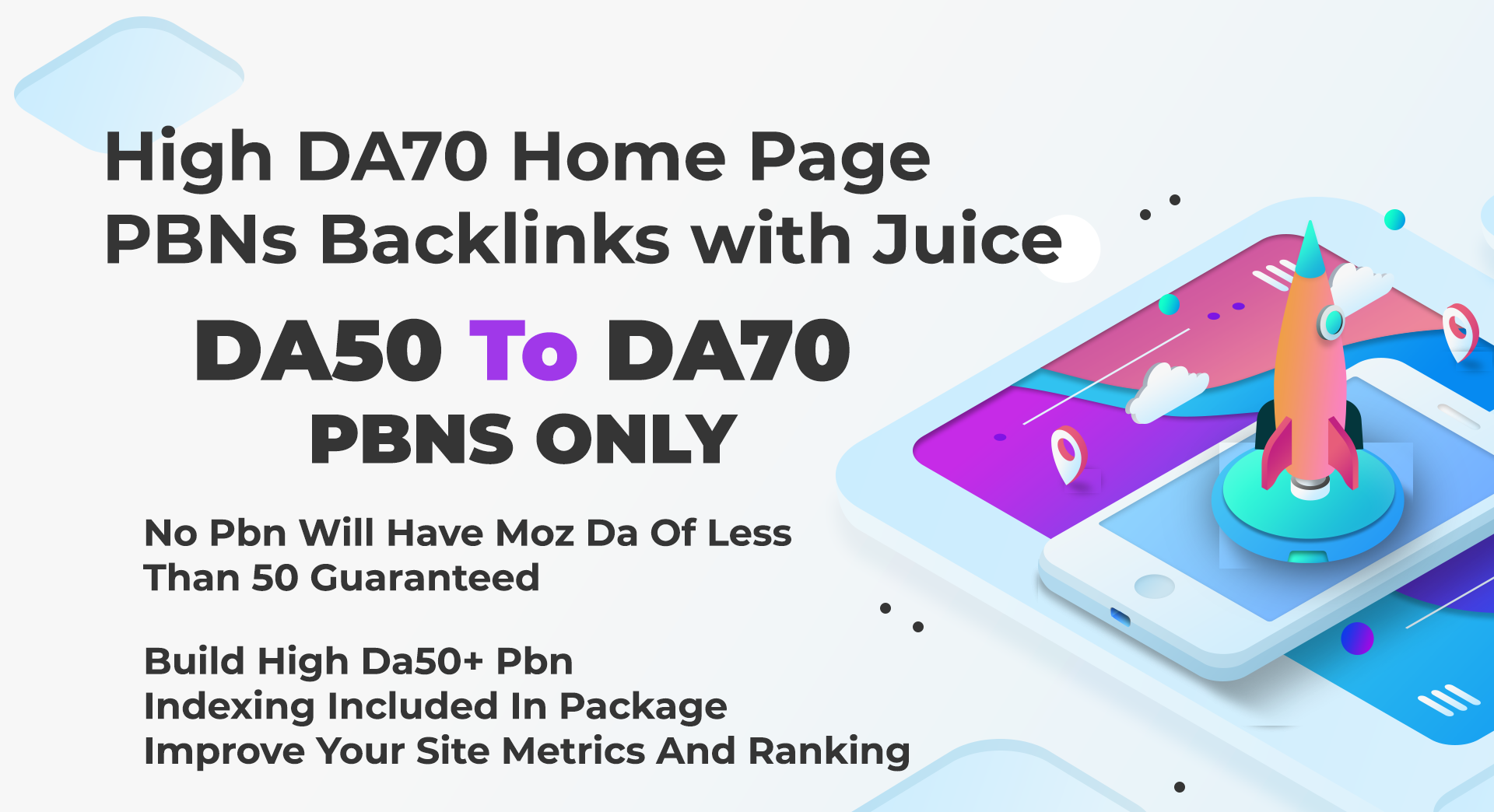 Create 7 DA50+ To DA80 Home Page Aged PBNs Backlinks - Improve Site Metrics With Ranking