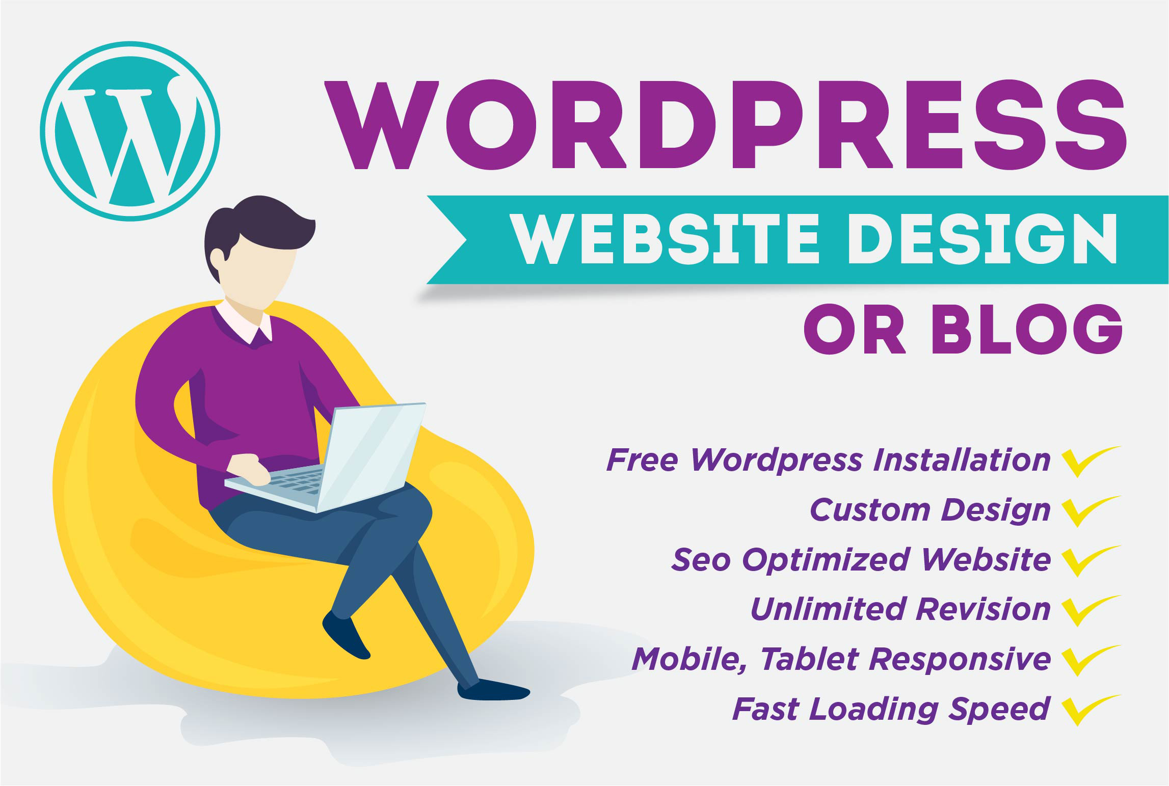 Responsive WordPress Website Design Or Blog