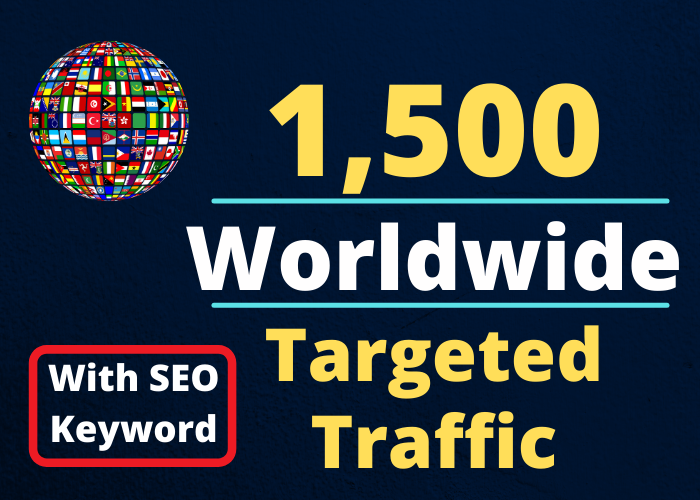 deliver 1500+ Real Website Hits Visitors From All Over The World With Proof within 24 hours