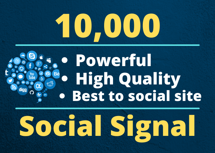 10000 High Quality PR9-PR10 Social Signals Backlink from 2 BEST Social Media website