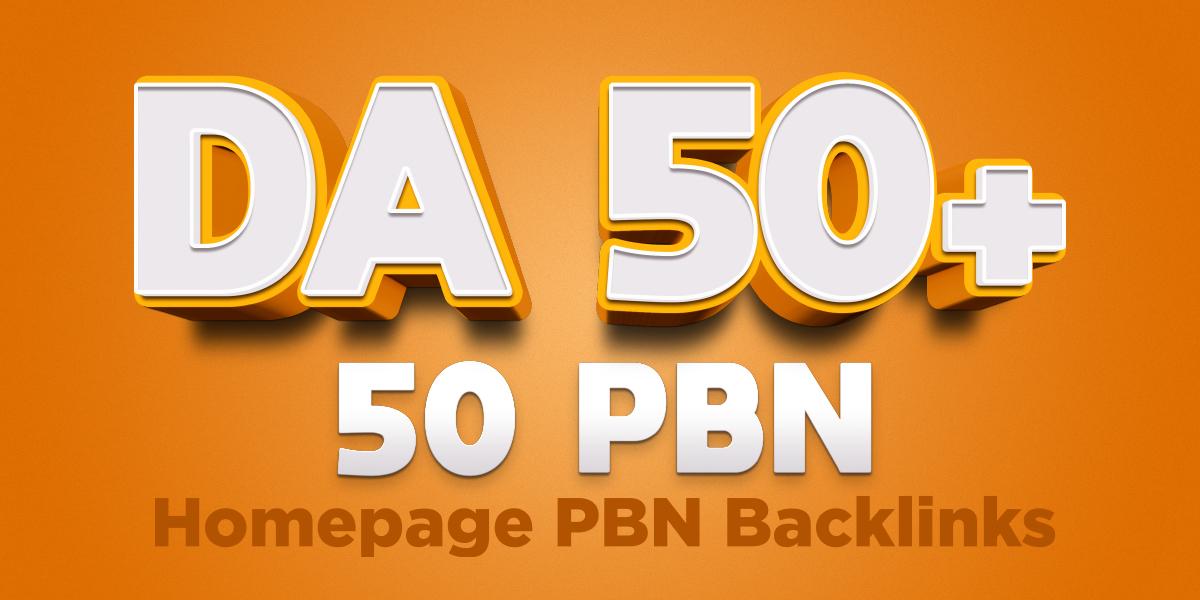 Build 50 Extremely High Moz DA 50 Plus Do-Follow PBN Back-links
