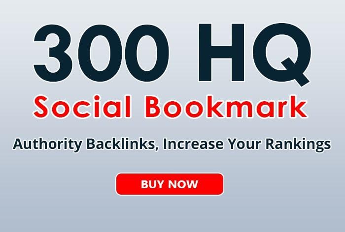 300 HQ Social Bookmarks Permanent Backlinks