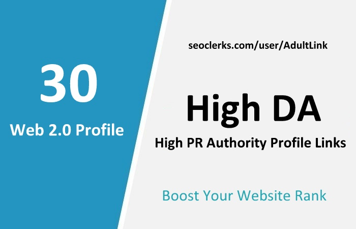 Manually Top 30 Web2.0 Profile Links From PR9 Sites