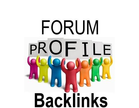 1000 SEO forum profile backlink