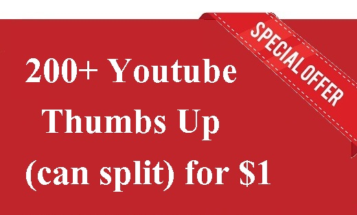 Youtube Video Promotion 200+ Thumbs-Up within 6-12 hours