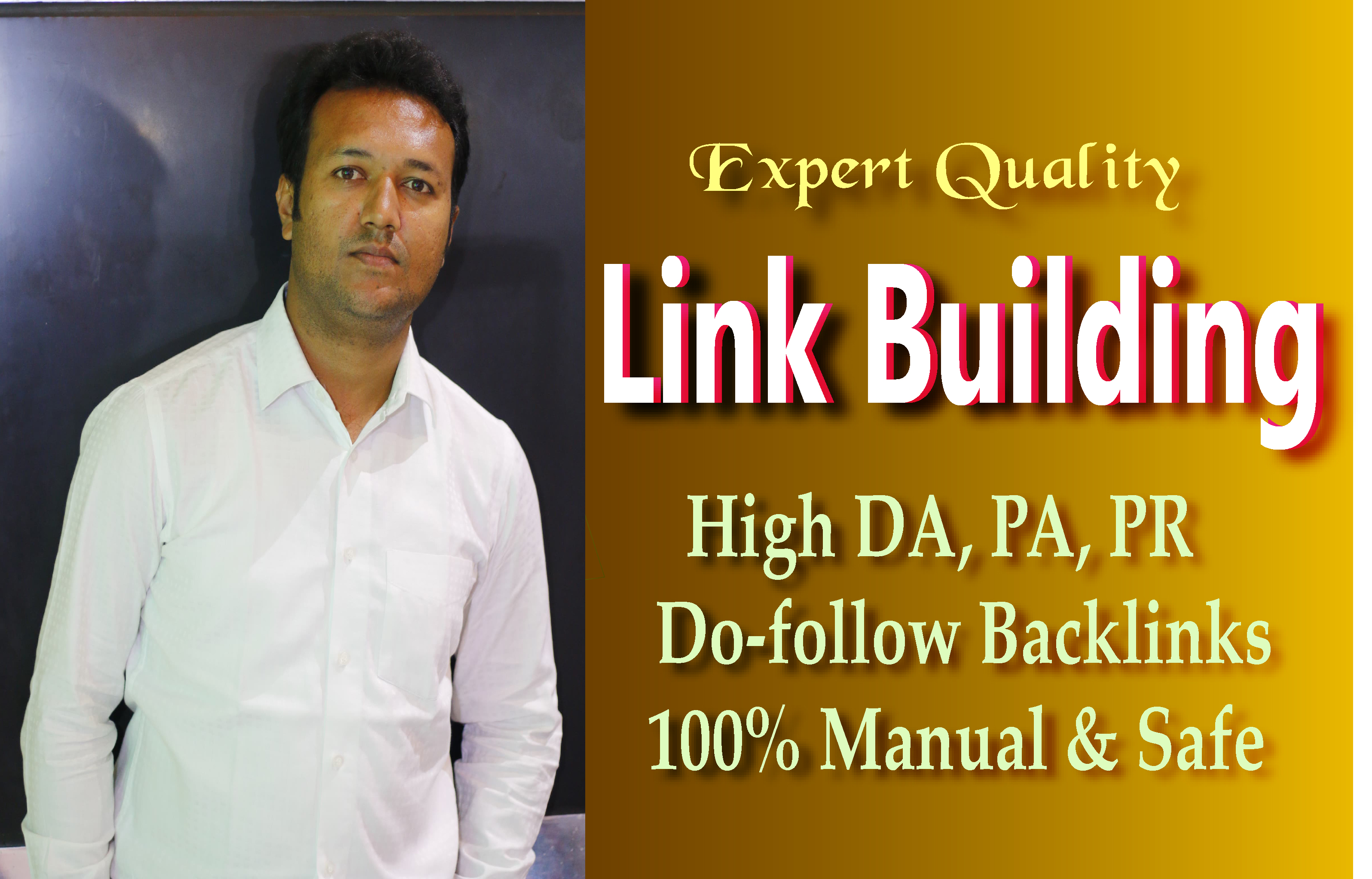 I will do 80 link building,  backlinks in high PR sites