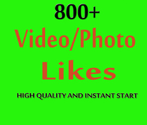 Instant 800+ Social likes High Quality