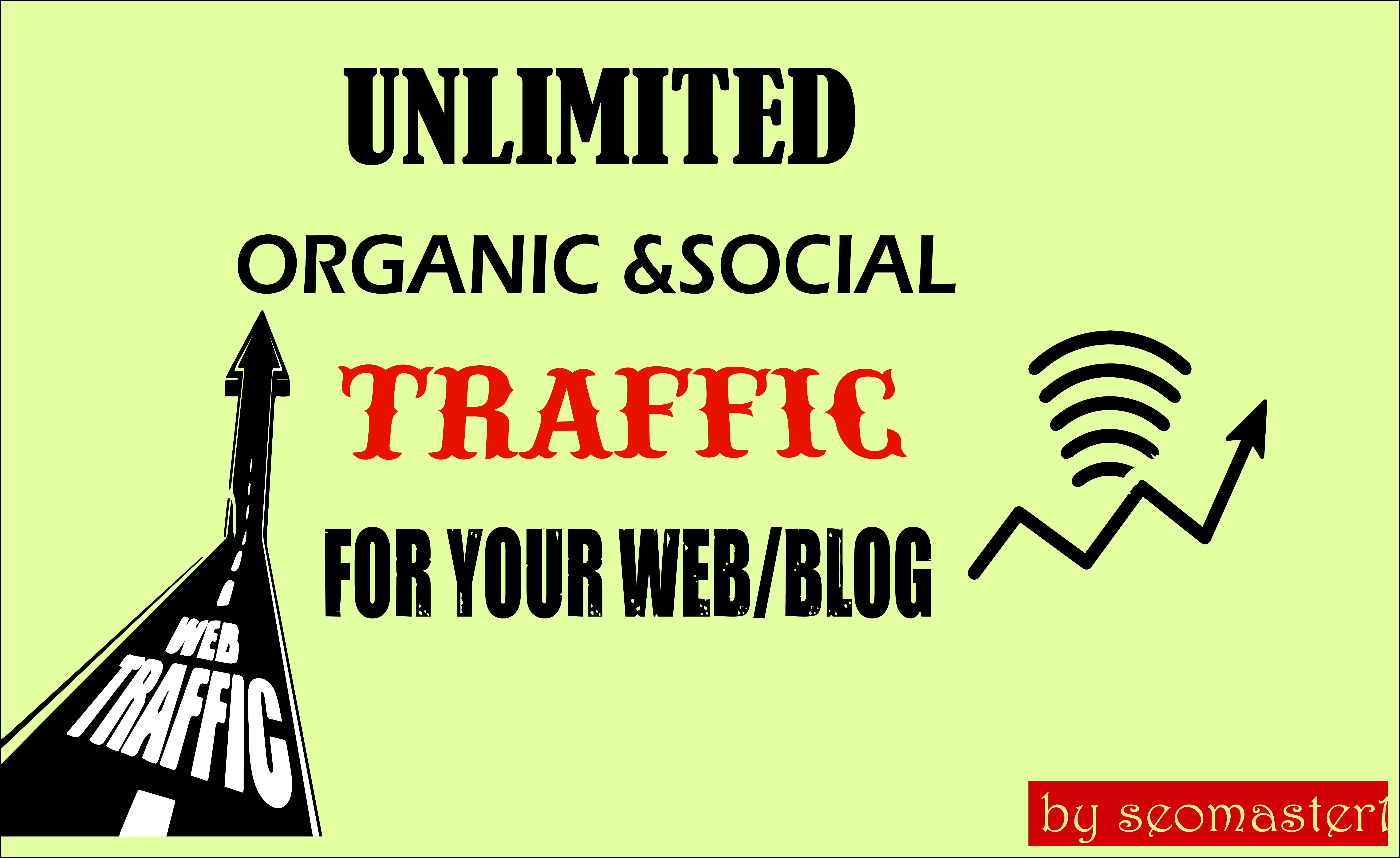 UNLIMITED organic & social Website TRAFFIC for 1 year