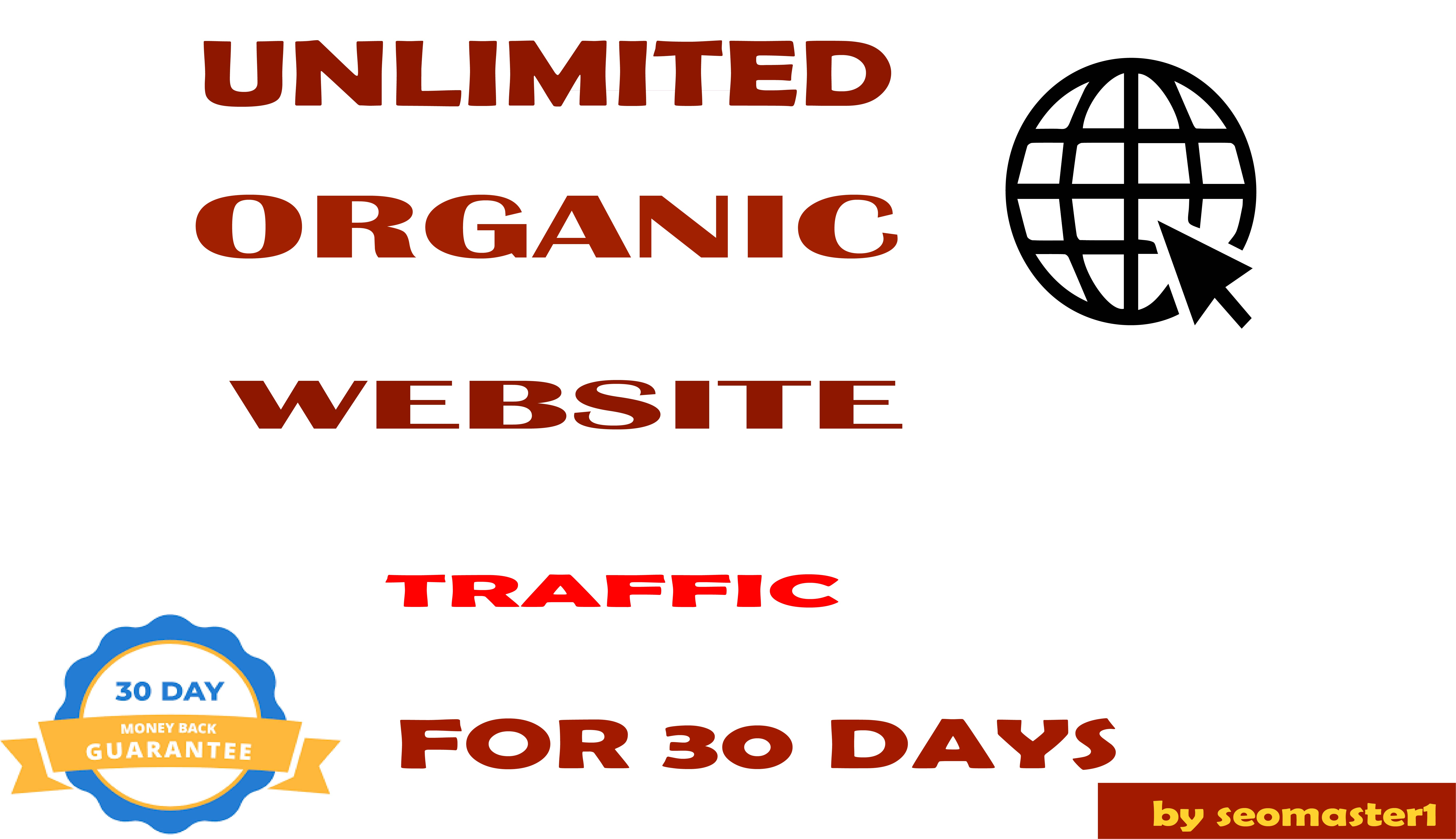 UNLIMITED organic & social Website TRAFFIC to get good Alexa rank for 1 month