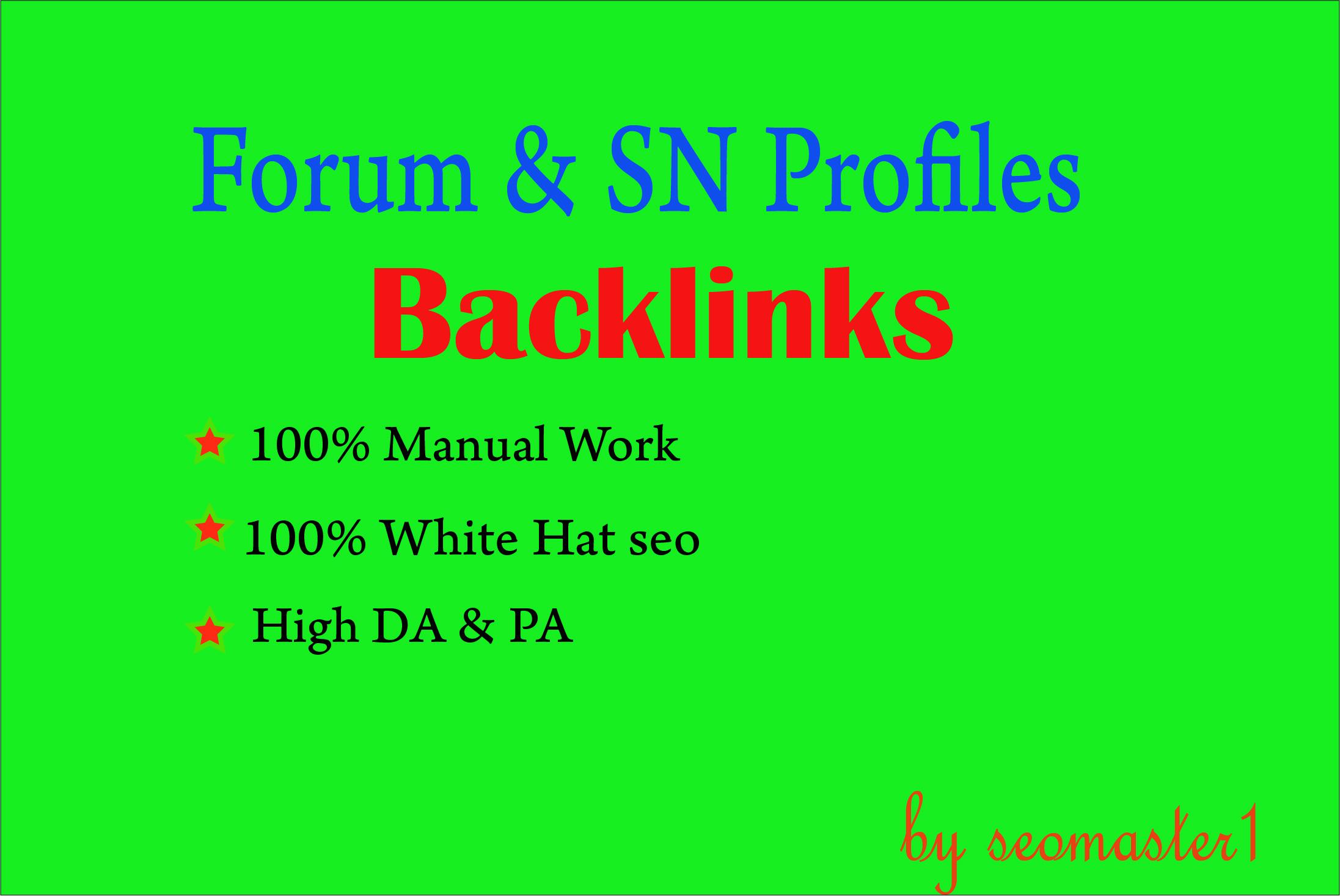 PR10 1500 Forum & social network Backlinks. Help To Website Traffic Google Ranking