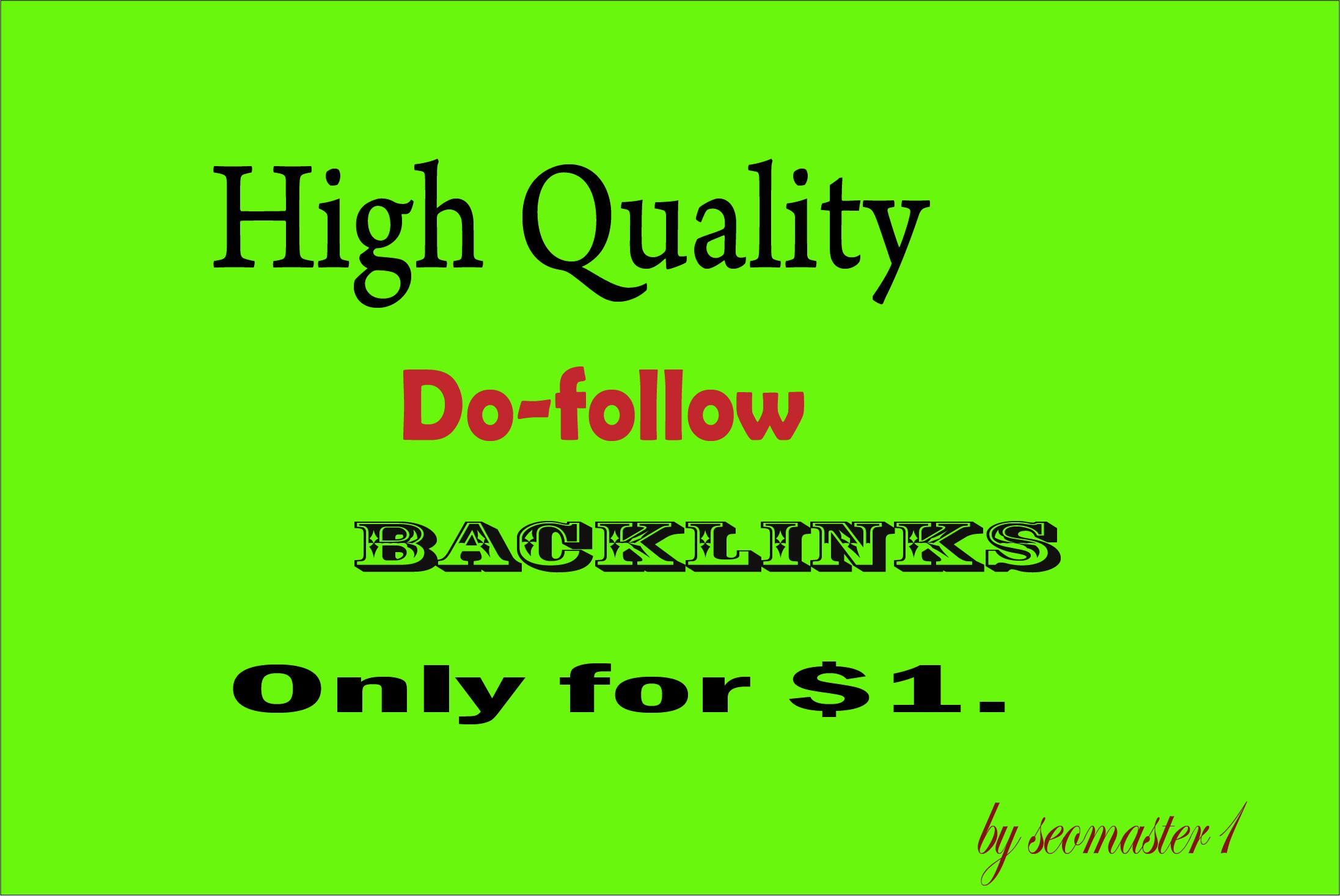 High Quality 200 Do-follow Backlinks DA 30 to DA 100
