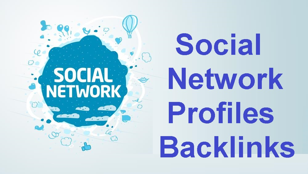give 500+ Social networks profiles backlinks