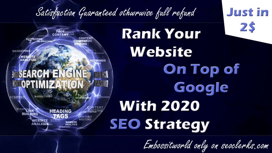 Will Do Seo backlinks Manually & Rank your website on Top of google with 2020 seo Strategy