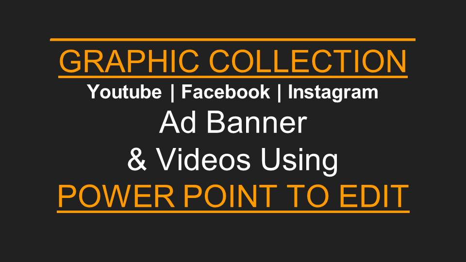 Banner | Stories | Facebook | Videos templates Using Power Point