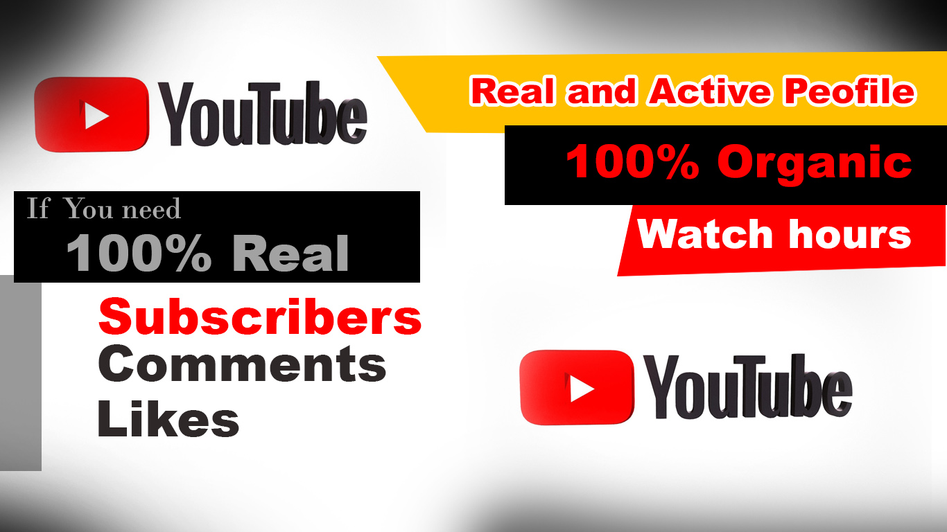I will do YouTube promotion organic and Real Human