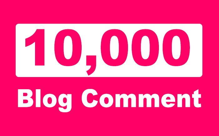 Provide you Over 10,000 SEO Blog Comment Backlinks