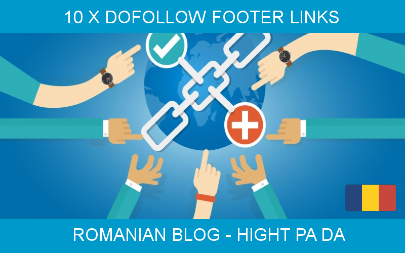 Special offer 10 x footer link for 6 MONTHS,  hight PA/DA
