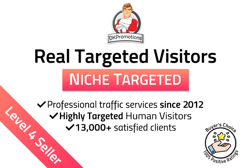 Real First-Class NICHE TARGETED Website TRAFFIC