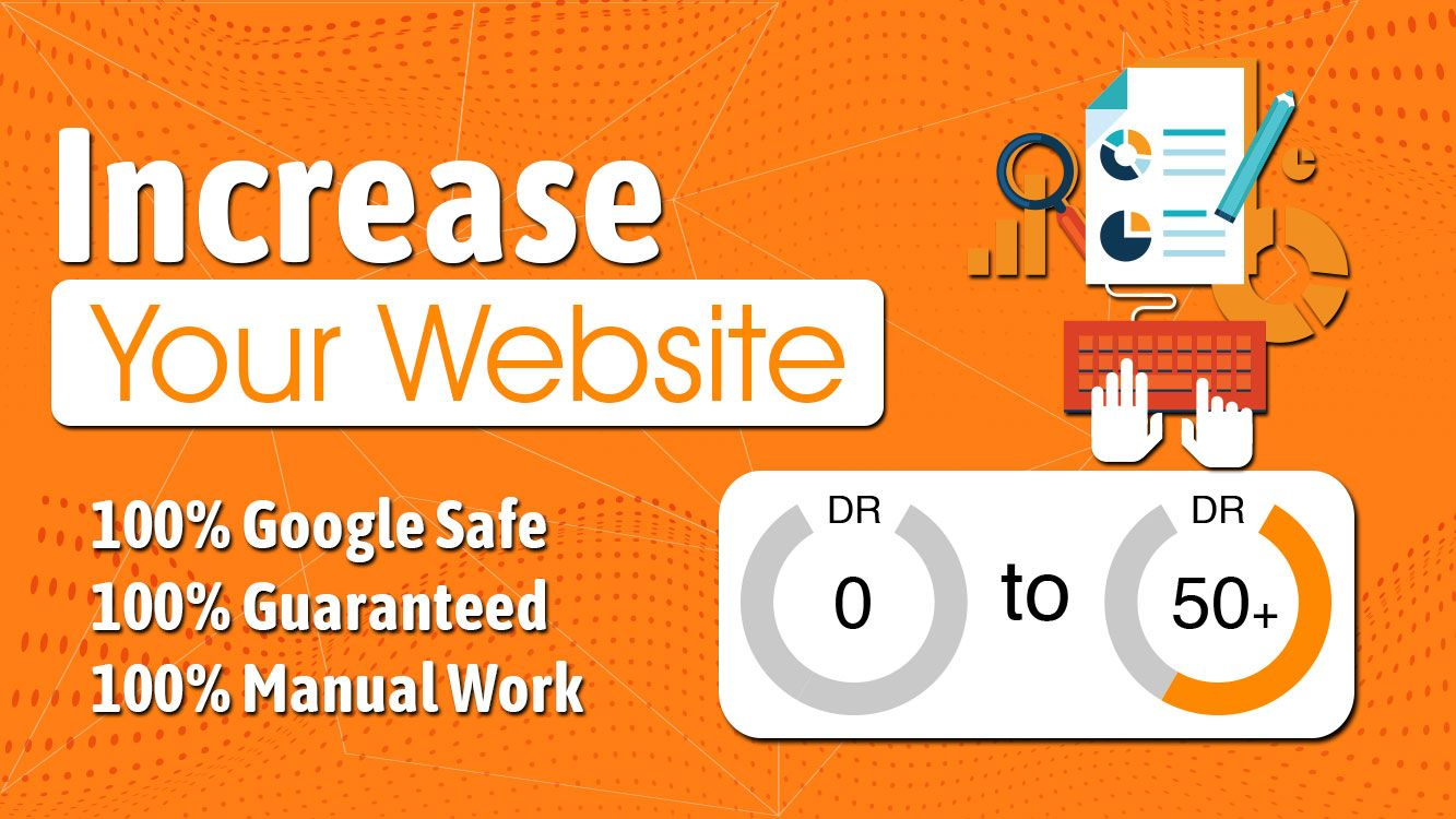 increase ahrefs domain rating DR50+ by SEO authority backlinks