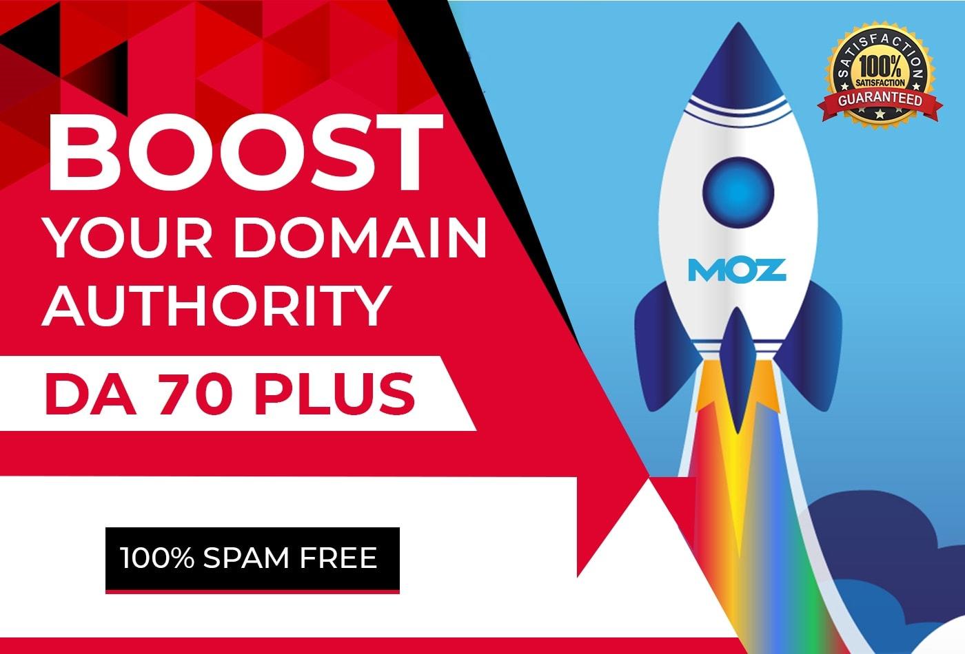SKYROCKET Your Website MOZ Domain Authority DA 50 Plus