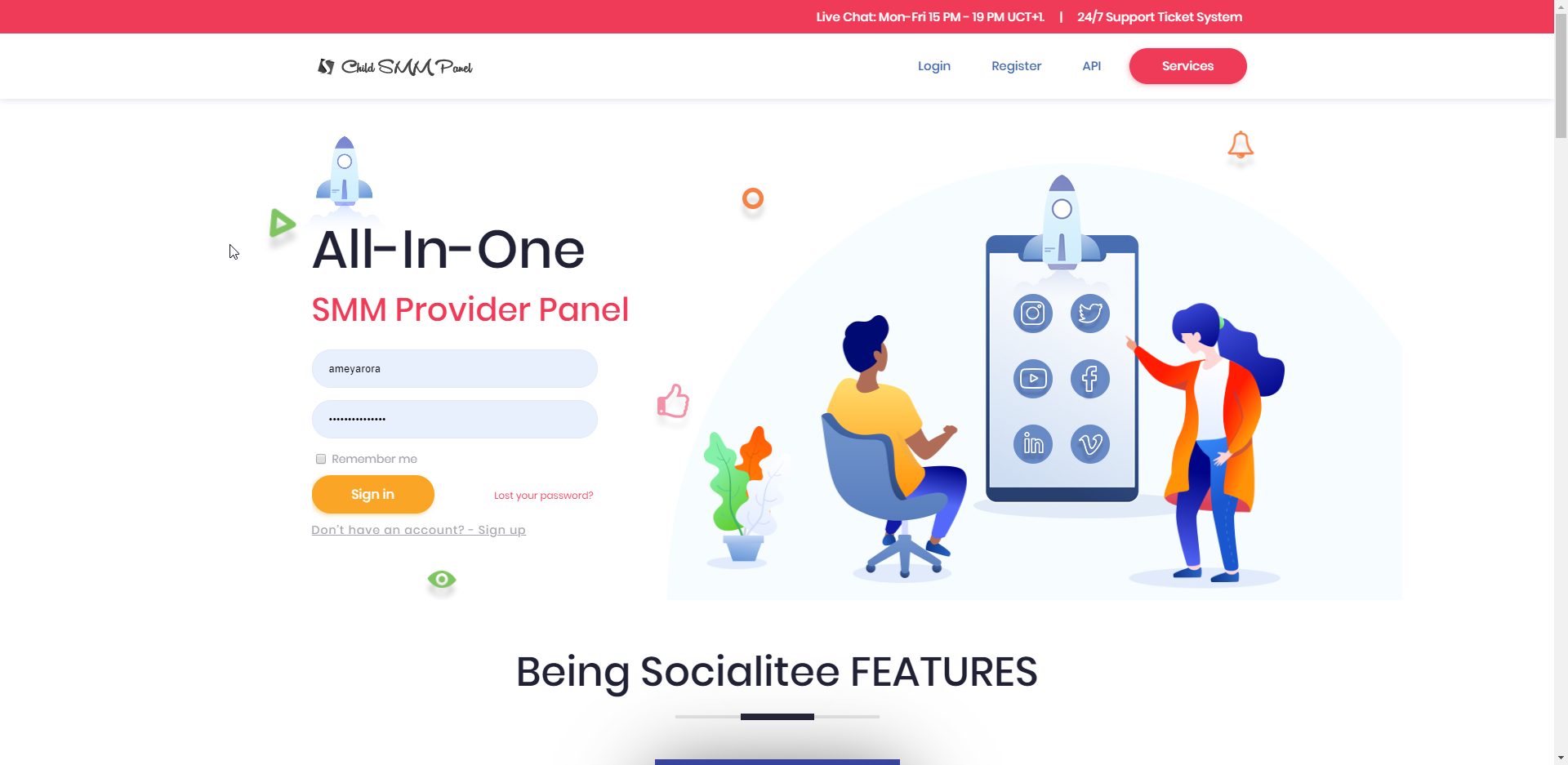 All in One - SMM Reseller Panel Script [SocialDealers]