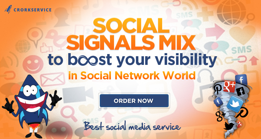 500 Social Signals Mix to boost visibility in Social Networks