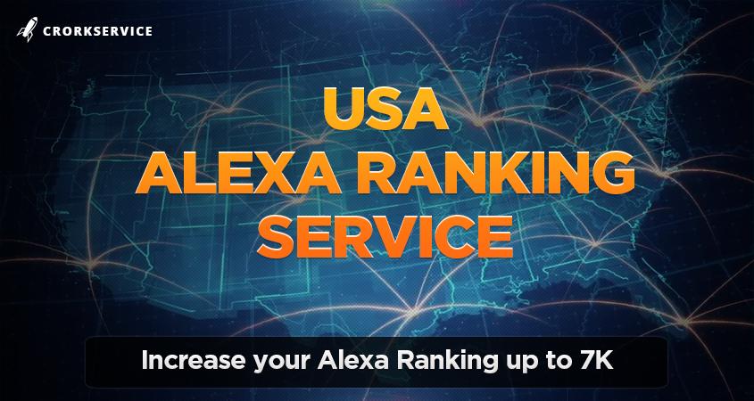 Alexa USA Ranking Service - Increase Alexa up to 7K