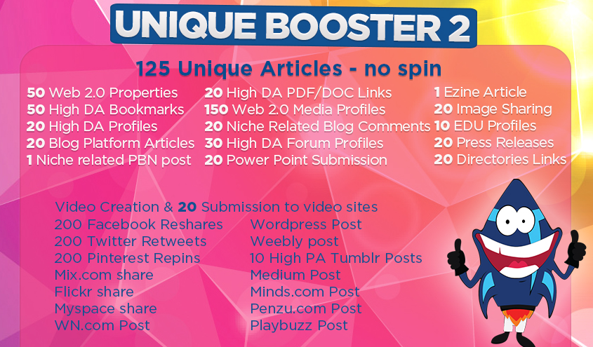 Unique Booster SEO Link Building Package To Get Easy Top Google Positions