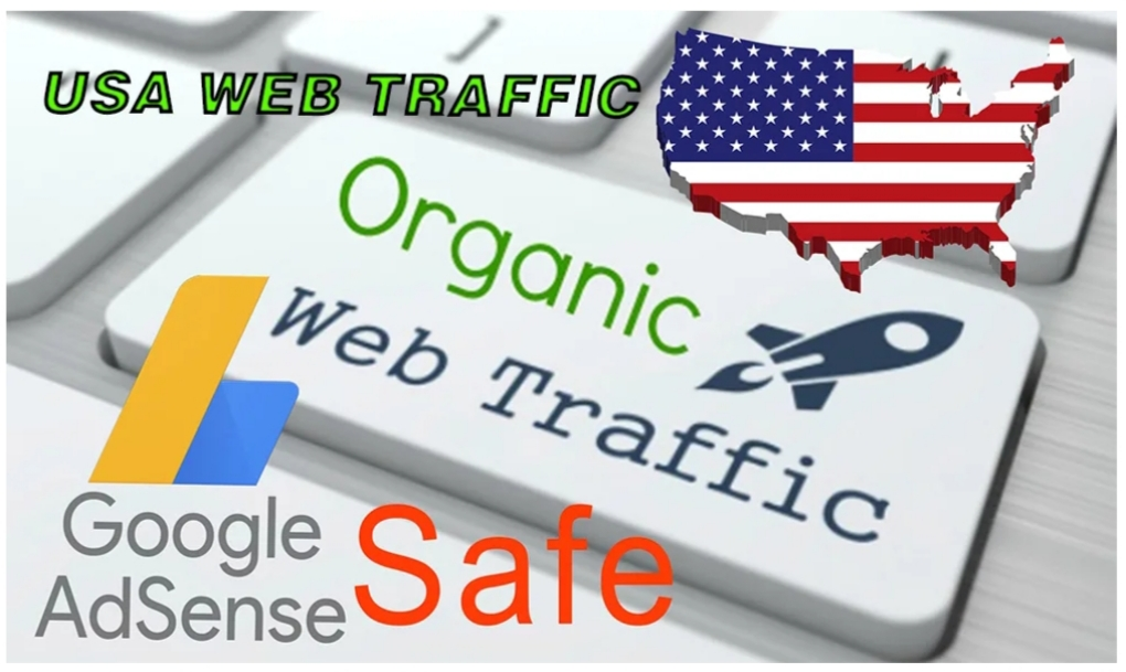Send 100,000 USA Keyword Targeted,  Organic Traffic,  Trackable,  100 safe with Google Adsense
