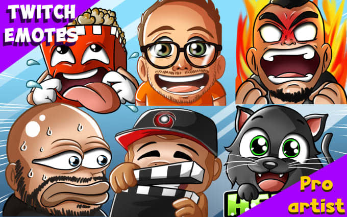 Design Unique High Quality Custom Twitch Emotes