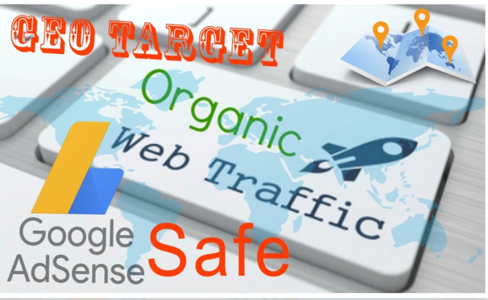 Send Geo Target,Adsense Safe,Niche Related,Real Organic Visitors 500 to 600 per day for 30 days