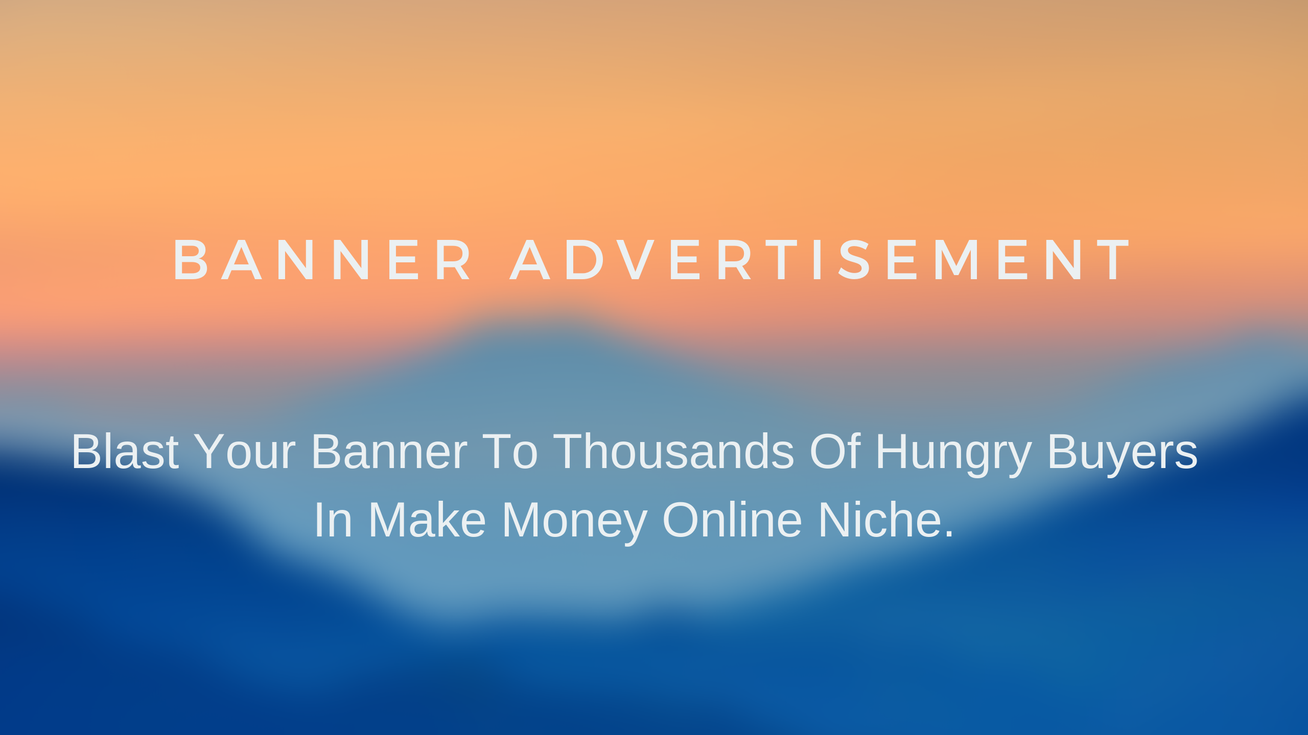 Blast Your Banner Advertisement To 3 Thousand People