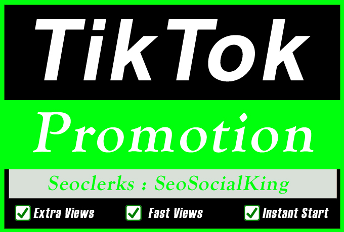 TikTok Video Or Account Promotion Marketing With Fast Delivery Via Real Audience views