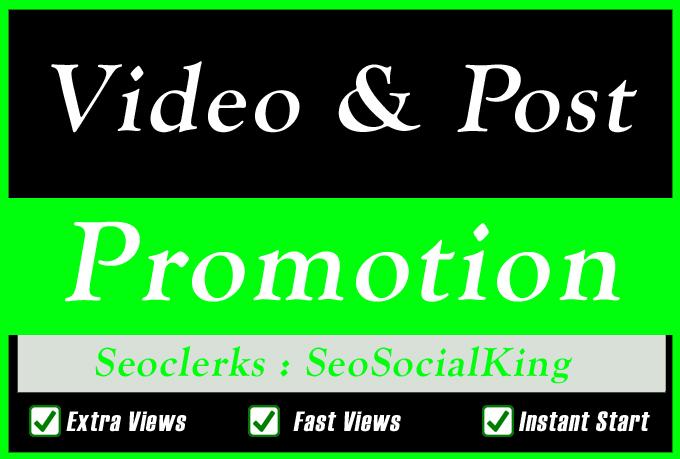 High Quality Social TV Video or Post Promotion for Social media Marketing
