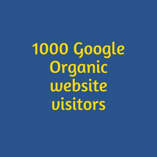 1000 Google Organic website visitors