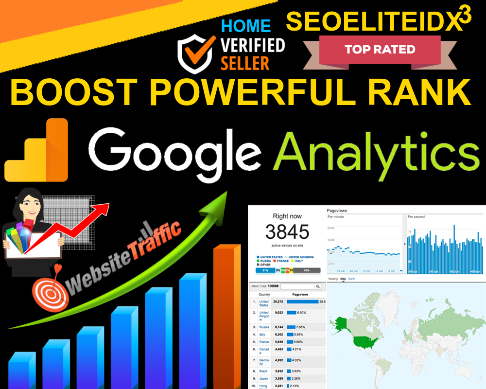 Will Boost Your Website 5 Million Worldwide USA UK Google Analytics Traffic Help To Google Rank