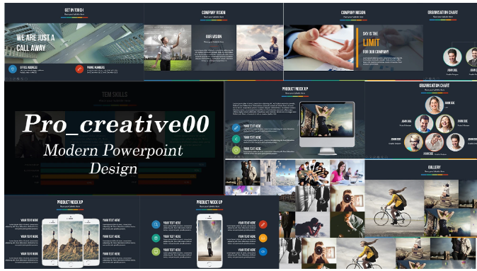 create modern powerpoint presentation design and template