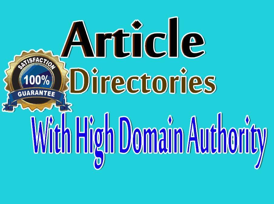 I will do 100 Article Directories Backlink