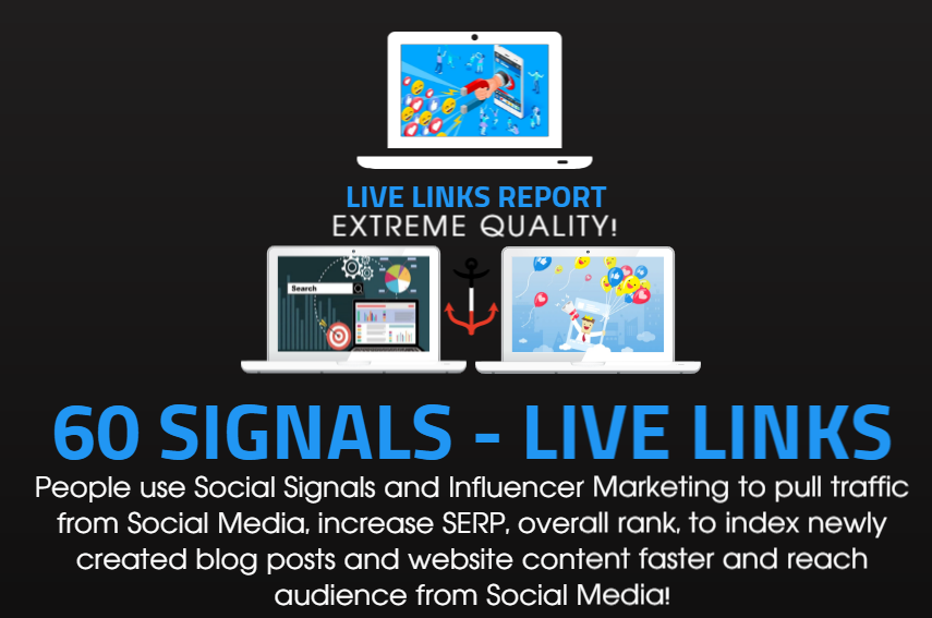 60 Social Signals to BOOST your SEO and Traffic with PROMOTION to 250,000 people on Social Media