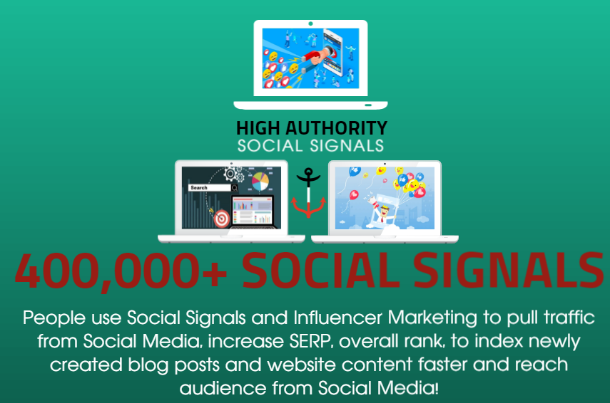 GET 400.000 SOCIAL SIGNALS ON HIGH AUTHORITY PAGES TO BOOST YOUR RANK,  TRAFFIC AND SEO SCORE