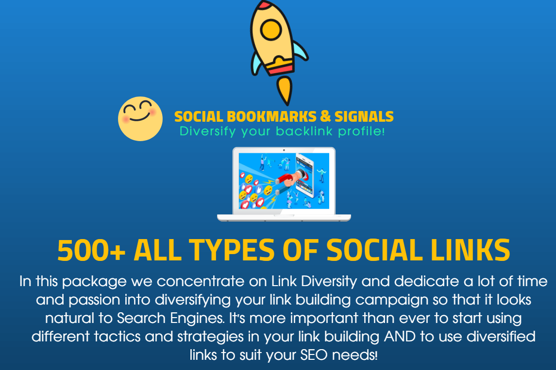 500 High Quality SEO Social Bookmarks,  Signals and PBN Links from Established Social and PBN Blogs