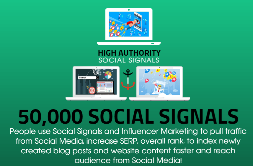 GET 50,000 SOCIAL SIGNALS ON HIGH AUTHORITY PAGES TO BOOST YOUR RANK, TRAFFIC AND SEO SCORE