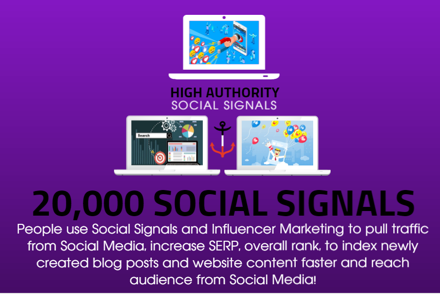 GET 20,000 SOCIAL SIGNALS ON HIGH AUTHORITY PAGES TO BOOST YOUR RANK,  TRAFFIC AND SEO SCORE